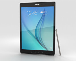3D model of Samsung Galaxy Tab A 9.7 S Pen Smoky Titanium