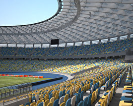 3D model of Olimpiyskiy National Sports Complex