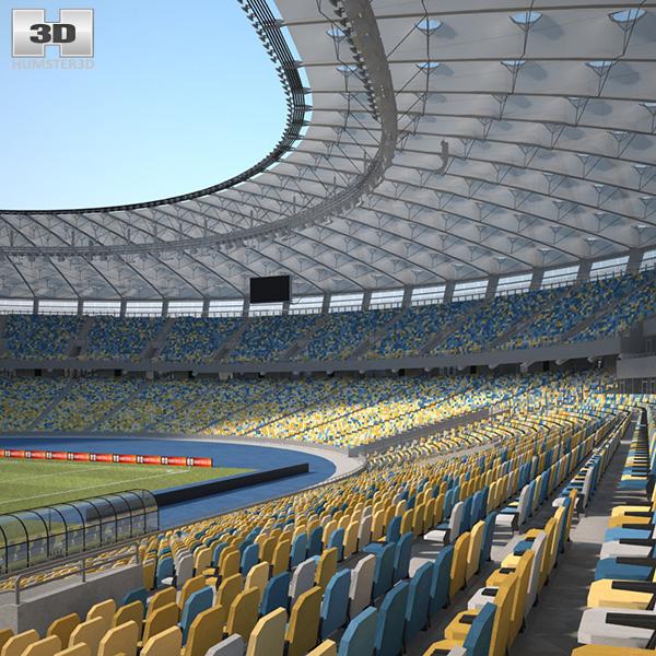 3D model of Olimpiyskiy National Sports Complex