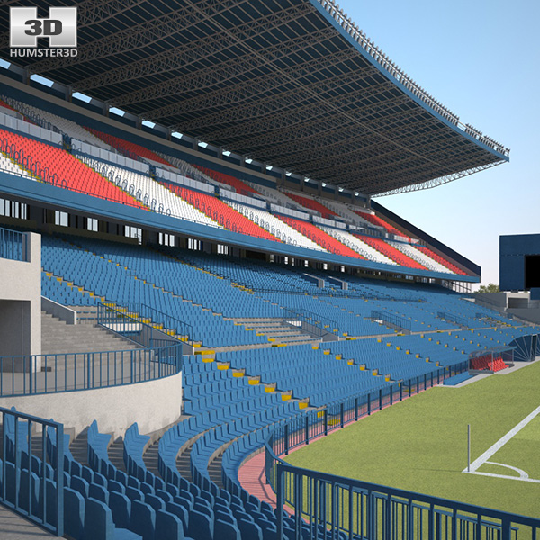3D model of Vicente Calderon Stadium