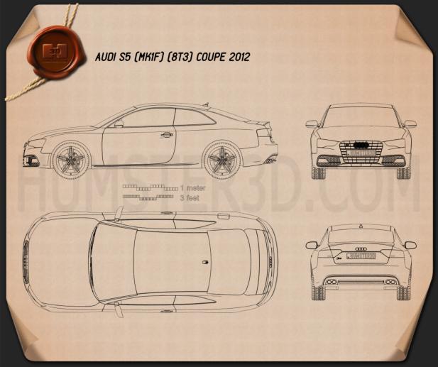 Audi S5 coupe 2012 Blueprint