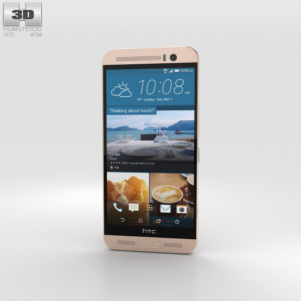 HTC One ME Gold Sepia 3D model