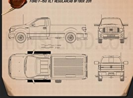 Ford F-150 XLT Regular Cab 8-foot Box 2011 Blueprint
