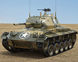 3D model of M24 Chaffee