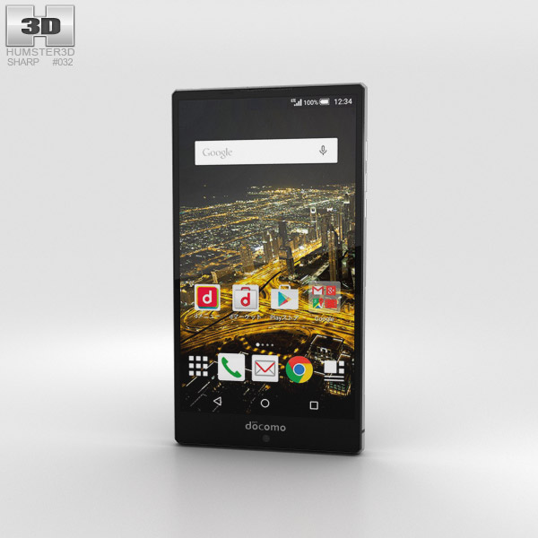 Sharp Aquos Zeta SH-03G Black 3D model