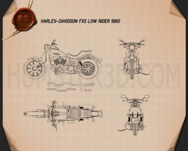 Harley-Davidson FXS Low Rider 1980 Blueprint