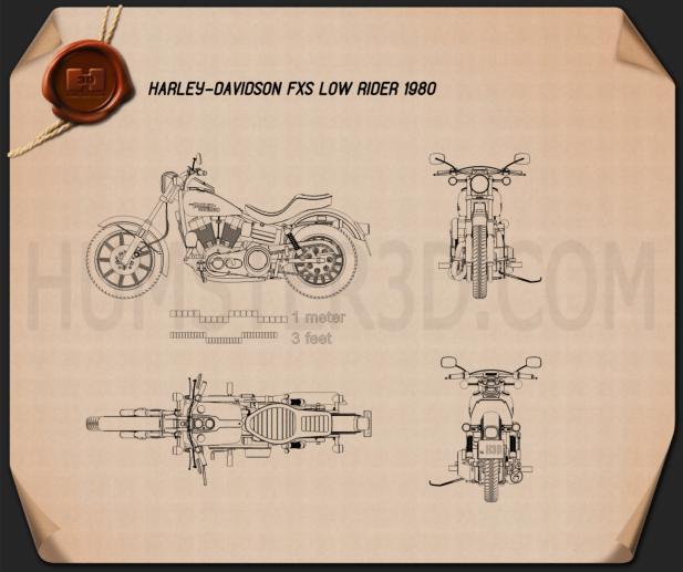 Harley-Davidson FXS Low Rider 1980 Blueprint
