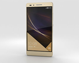 3D model of Huawei Honor 7 Gold