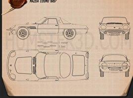Mazda Cosmo 1967 Blueprint