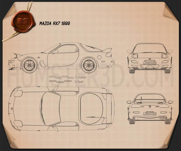 Mazda RX-7 1992-2002 Blueprint