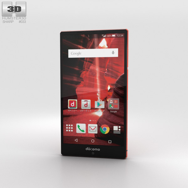 Sharp Aquos Zeta SH-03G Red 3D model