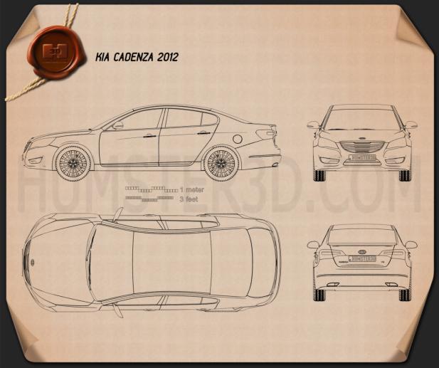 Kia Cadenza (K7) 2012 Blueprint