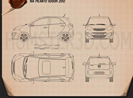 Kia Picanto 5-door 2012 Blueprint