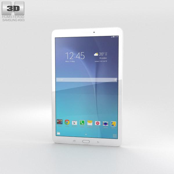 Samsung Galaxy Tab E 9.6 White 3D model