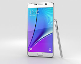 3D model of Samsung Galaxy Note 5 White Pearl