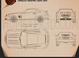 Chrysler Crossfire coupe 2003 Blueprint
