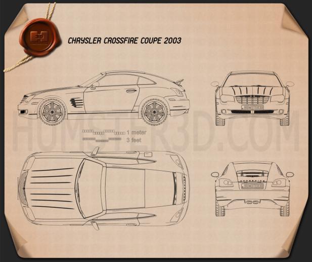Chrysler Crossfire coupe 2003 Blueprint