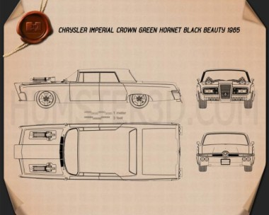 Chrysler Imperial Crown Green Hornet Black Beauty 1965 Blueprint