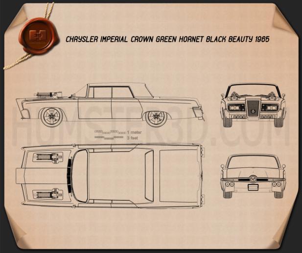 Chrysler Imperial Crown Green Hornet Black Beauty 1965 Blueprint