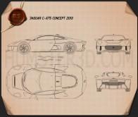 Jaguar C-X75 2013 Blueprint