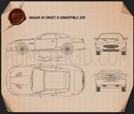 Jaguar XKR convertible 2011 Blueprint