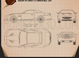 Jaguar XKR convertible 2011 Blueprint