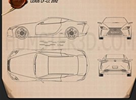 Lexus LF-LC 2012 Blueprint