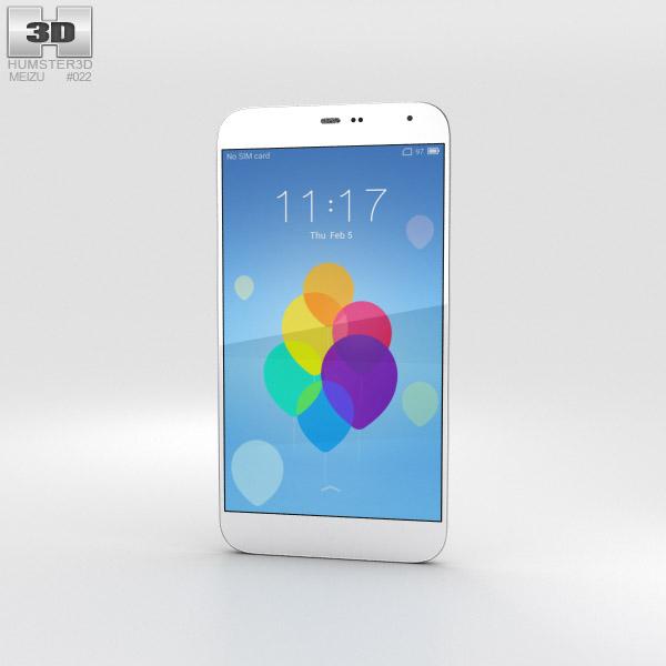 Meizu MX3 White 3D model