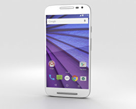 3D model of Motorola Moto G (3rd Gen) White