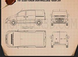 Fiat Scudo Furgon ShortWheelbase 4-door 2011 Blueprint
