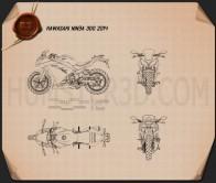 Kawasaki Ninja 300 2014 Blueprint