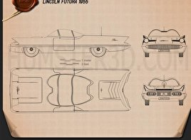 Lincoln Futura 1955 Blueprint