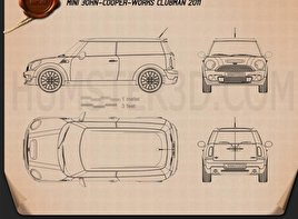 Mini John Cooper Works Clubman 2011 Blueprint