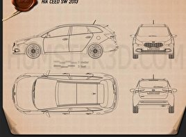 Kia Ceed SW 2013 Blueprint