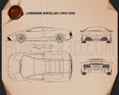 Lamborghini Murcielago LP640 2006 Blueprint