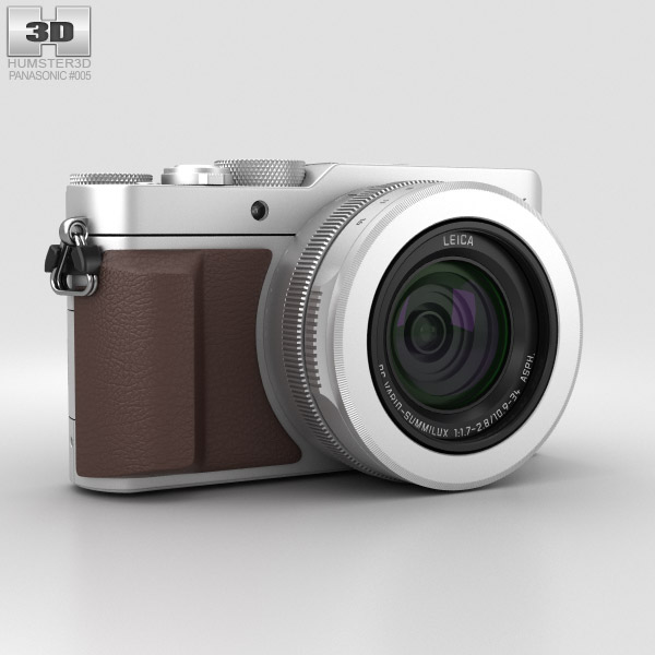 Panasonic Lumix DMC-LX100 Silver 3D-Modell