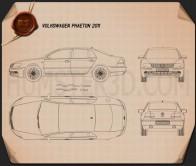 Volkswagen Phaeton 2011 Blueprint