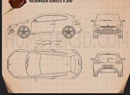 Volkswagen Scirocco R 2010 Blueprint