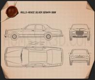 Rolls-Royce Silver Seraph 1998 Blueprint