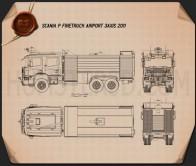 Scania P Fire Truck Airport 2011 Blueprint