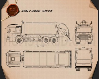 Scania P Garbage 2011 Blueprint