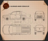 Volkswagen Amarok Crew Cab 2010 Blueprint
