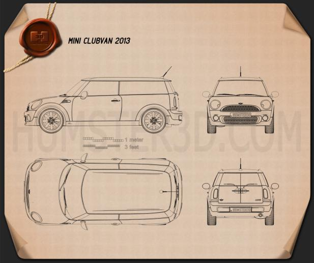 Mini Clubvan 2013 Blueprint