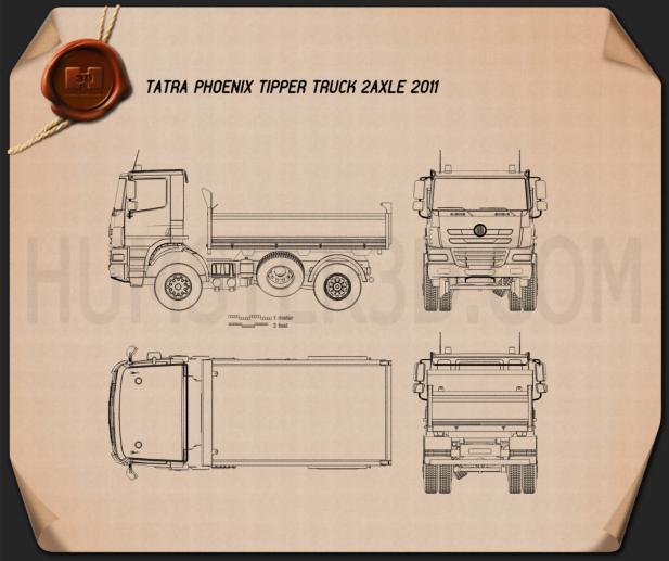 Tatra Phoenix Tipper Truck 2011 Blueprint