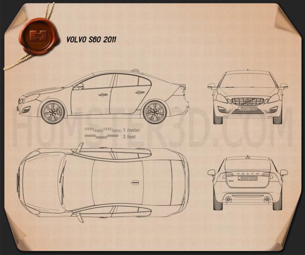 Volvo S60 2011 Blueprint