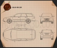 Volvo V50 2011 Blueprint