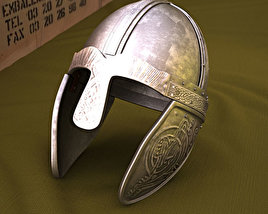3D model of Embossed Viking Helmet