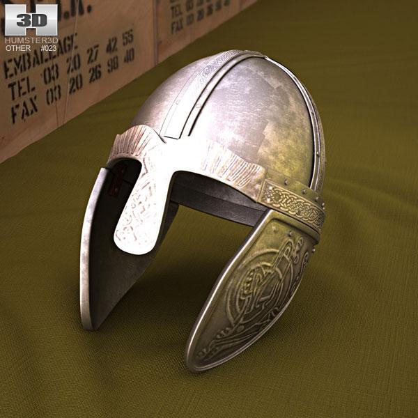 3D model of Embossed Viking Helmet
