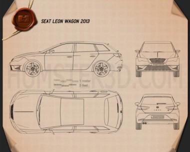 Seat Leon wagon 2013 Blueprint