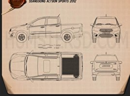 SsangYong Korando Sports (New Actyon) 2012 Blueprint